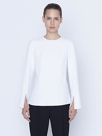 Akris Blouse in techno gird with trumpet sleeves