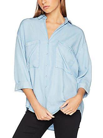 25b837c4f38a5 Pimkie Chemise en jean fluide bleu clair manches 3 4 Femme