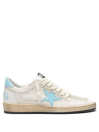 Golden Goose Ball Star Low Top Leather Trainers - Womens - Blue White