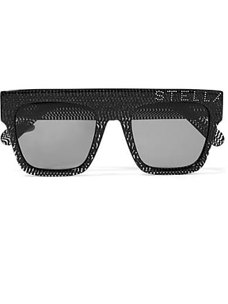 32a24aea13b Stella McCartney Crystal-embellished D-frame Glittered Acetate Sunglasses -  Black