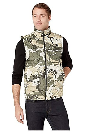 257b737bbbd2 The North Face Thermoball Vest (Peyote Beige Woodchip Camo Print) Mens Vest