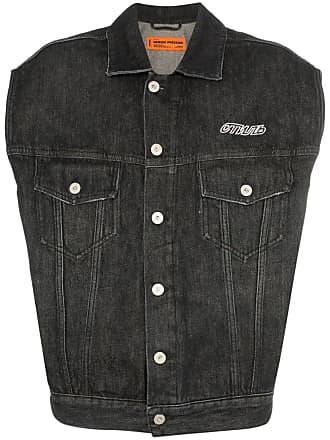 HPC Trading Co. Colete jeans com estampa CTNMB - Preto