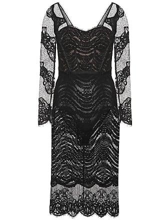 Jonathan Simkhai Lace bustier bodysuit midi dress
