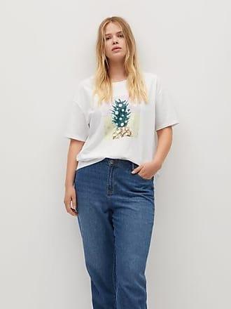 Violeta by Mango Pineapple printed cotton T-shirt