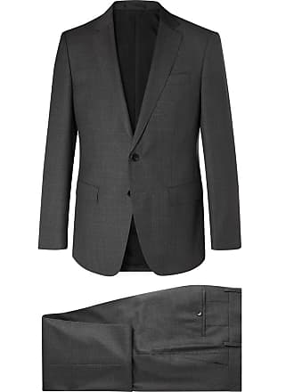 HUGO BOSS Dark-grey Huge Genius Slim-fit Virgin Wool Suit - Gray 083a2be65ae9c