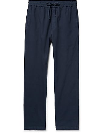 Ymc You Must Create Navy Cotton And Linen-blend Drawstring Trousers - Navy