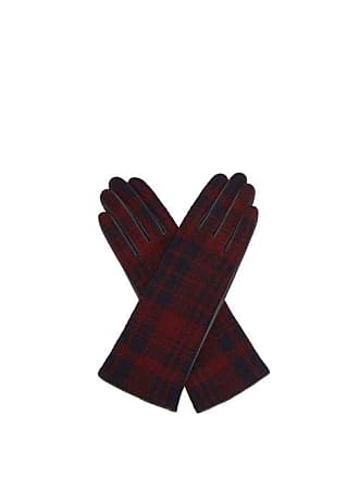 Sonia Rykiel Tartan Wool And Leather Gloves - Womens - Brown