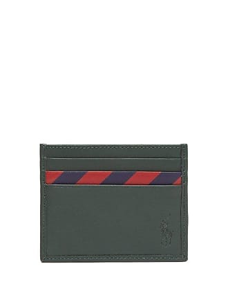 36e59b7cef37 Polo Ralph Lauren Striped Panel Leather Cardholder - Mens - Green