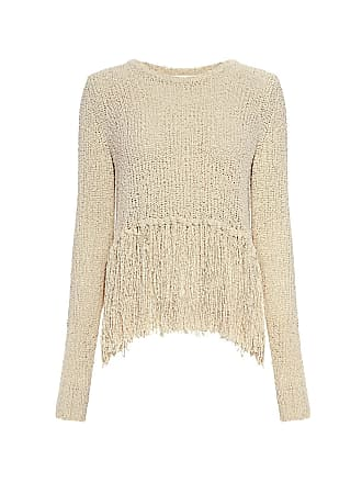A.L.C. Andreas Fringe Silk Blend Sweater Natural