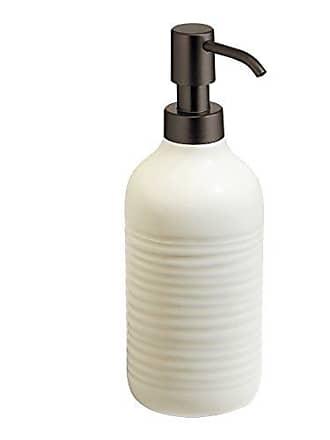 InterDesign Elsa Liquid Soap & Lotion Dispenser Pump for Kitchen or Bathroom Countertops, Natural/Bronze