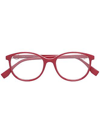 Fendi Armação de óculos arredondada - Vermelho