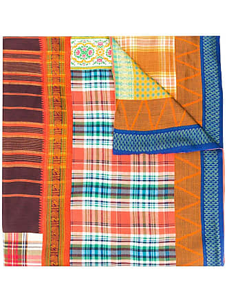 Pierre-Louis Mascia checked print scarf - Blue