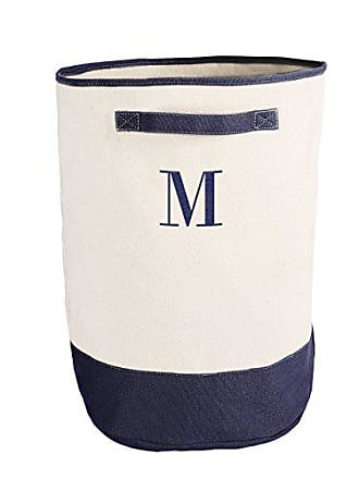 Cathy's Concepts Personalized Round Storage Hamper, Navy, Letter M