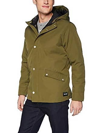 Hurley Mens Timber Sherpa Lined Jacket, Olive Canvas, XL