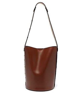 0595e9ea61 Marni Punch Leather Bucket Bag - Womens - Black Multi