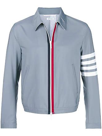 Thom Browne 4-Bar Swim-Tech Golf Jacket - Grey