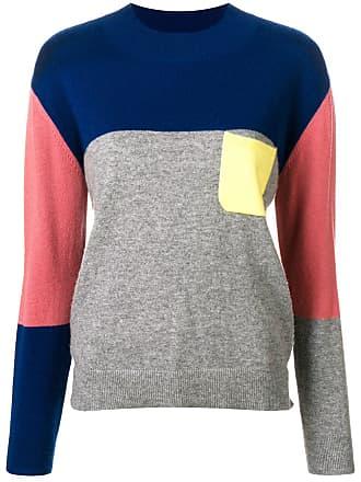 Chinti and Parker Suéter de cashmere color block - Cinza