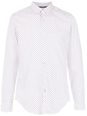 HUGO BOSS Camisa Slim Fit mangas longas - Branco