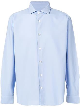 Ermenegildo Zegna spread collar shirt - Blue