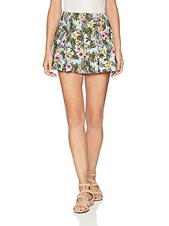 J.O.A. JOA Womens Printed Shorts with Lace Up Detail at Hips, Tropical Sky, S