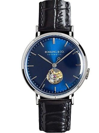 Rossling & Co. Metropolitan Automatic Watch   Blue Open-Heart