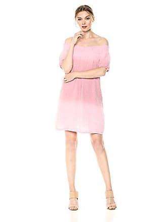 348e0b824837 Michael Stars Womens Coastal wash on Double Gauze Smocked Dress, Tickle,  Extra Small