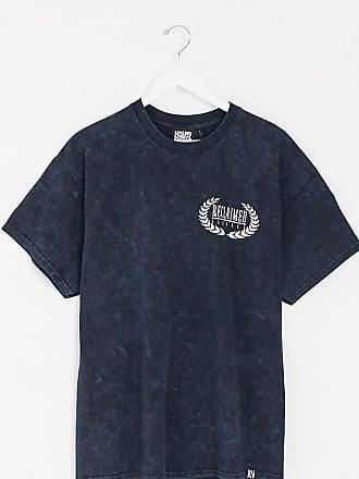 Reclaimed Vintage inspired overdye t-shirt with wings logo-Black