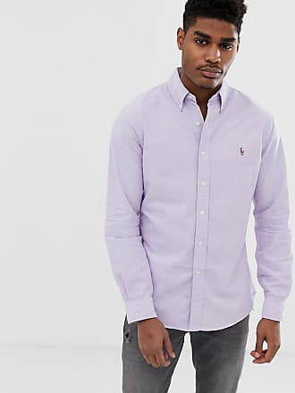 8eec01f1b Polo Ralph Lauren multi player logo button down oxford shirt slim fit in  lilac