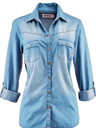 1b8b6a0f7e7b John Baner Jeanswear Dam Jeansblus i blå lång ärm - John Baner JEANSWEAR