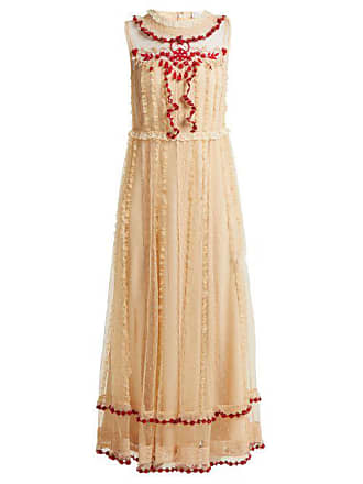 6082c37baf Red Valentino Redvalentino - Ruffle Trimmed Lace Dress - Womens - Ivory