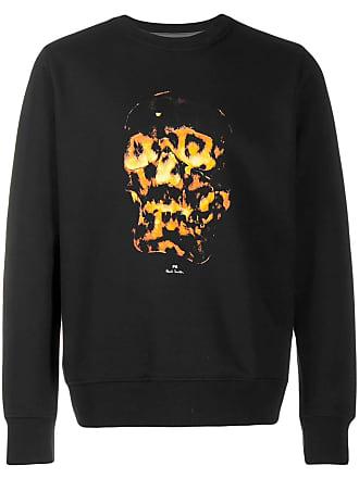 Paul Smith flaming skull print sweatshirt - Preto