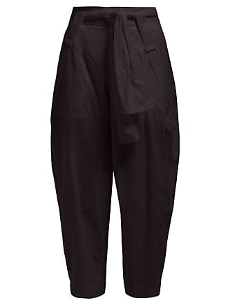 Issey Miyake Tortelli High Rise Wide Leg Trousers - Womens - Black