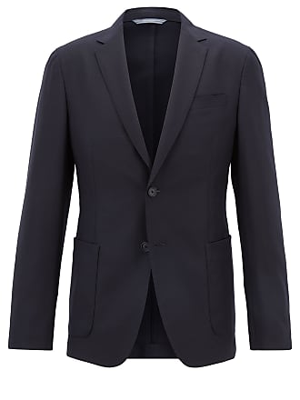 BOSS Slim-fit blazer in washable virgin wool