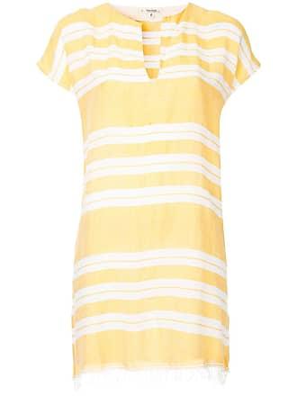 Lemlem Vestido túnica com listras - Amarelo