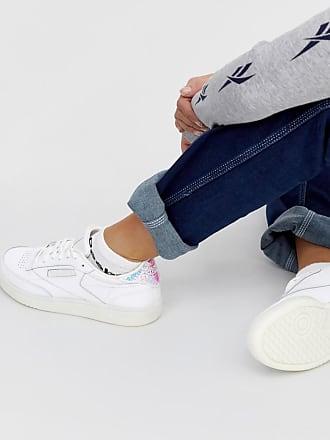 Reebok Club C 85 - Weiße Sneaker mit schimmernder Rückseite
