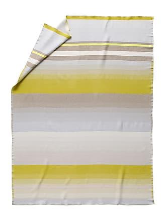 HAY Colour Tagesdecke No. 8 - gelb/weiß/grau/Merino Wolle/180x140cm