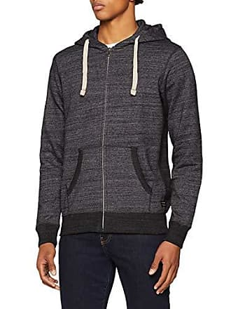 42560662ee63aa Jack   Jones Herren Sweatjacke JJESPACE Melange Sweat Zip Hood NOOS Grau  (Dark Grey Detail