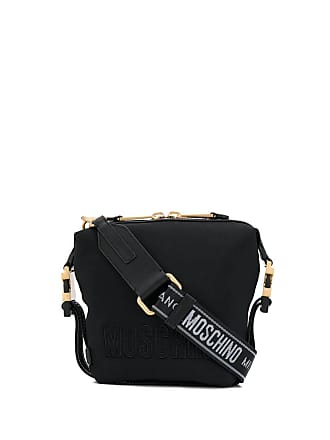 Moschino embroidered logo crossbody - Black