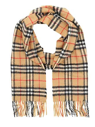 55c5ec0963150 Burberry Vintage Check Scarf Cashmere Antique Yellow Accessoire beige