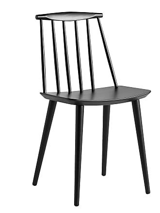 HAY J77 Stuhl - schwarz/lackiert/BxHxT 43x79x43cm