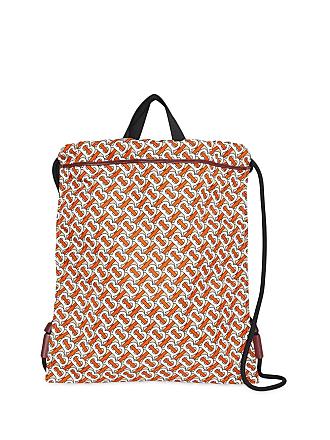 52f3abf2d13f Burberry Monogram Print Nylon Drawcord Backpack - Black