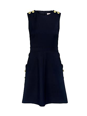 Red Valentino Scallop Sailor Dress Navy