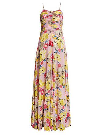 d41d3625c20 Etro Robe longue à fronces et imprimé floral Cassiopea