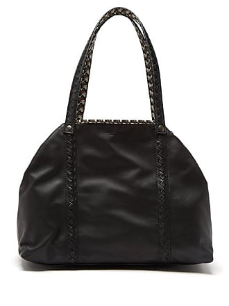 Bottega Veneta Reversible Butterfly Print Canvas And Leather Tote - Womens - Black Multi