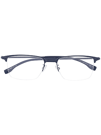 HUGO BOSS square frame glasses - Blue