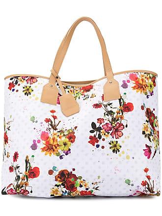 Loveless Bolsa tote com estampa floral - Branco