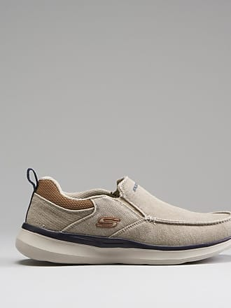 Skechers Zapatilla slip on lona SKECHERS - Talla 40 - Blanco/Beige