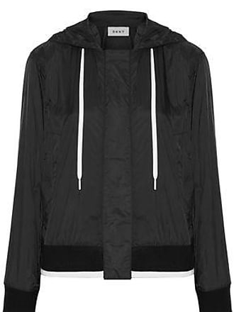 DKNY Dkny Woman Shell Hooded Jacket Black Size XXS