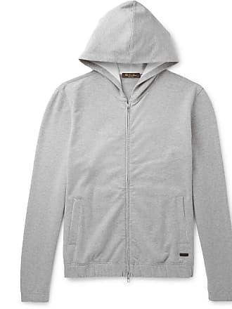 Loro Piana Loopback Stretch-cotton Jersey Zip-up Hoodie - Gray