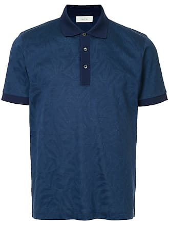 Cerruti tropical-pattern polo shirt - Blue